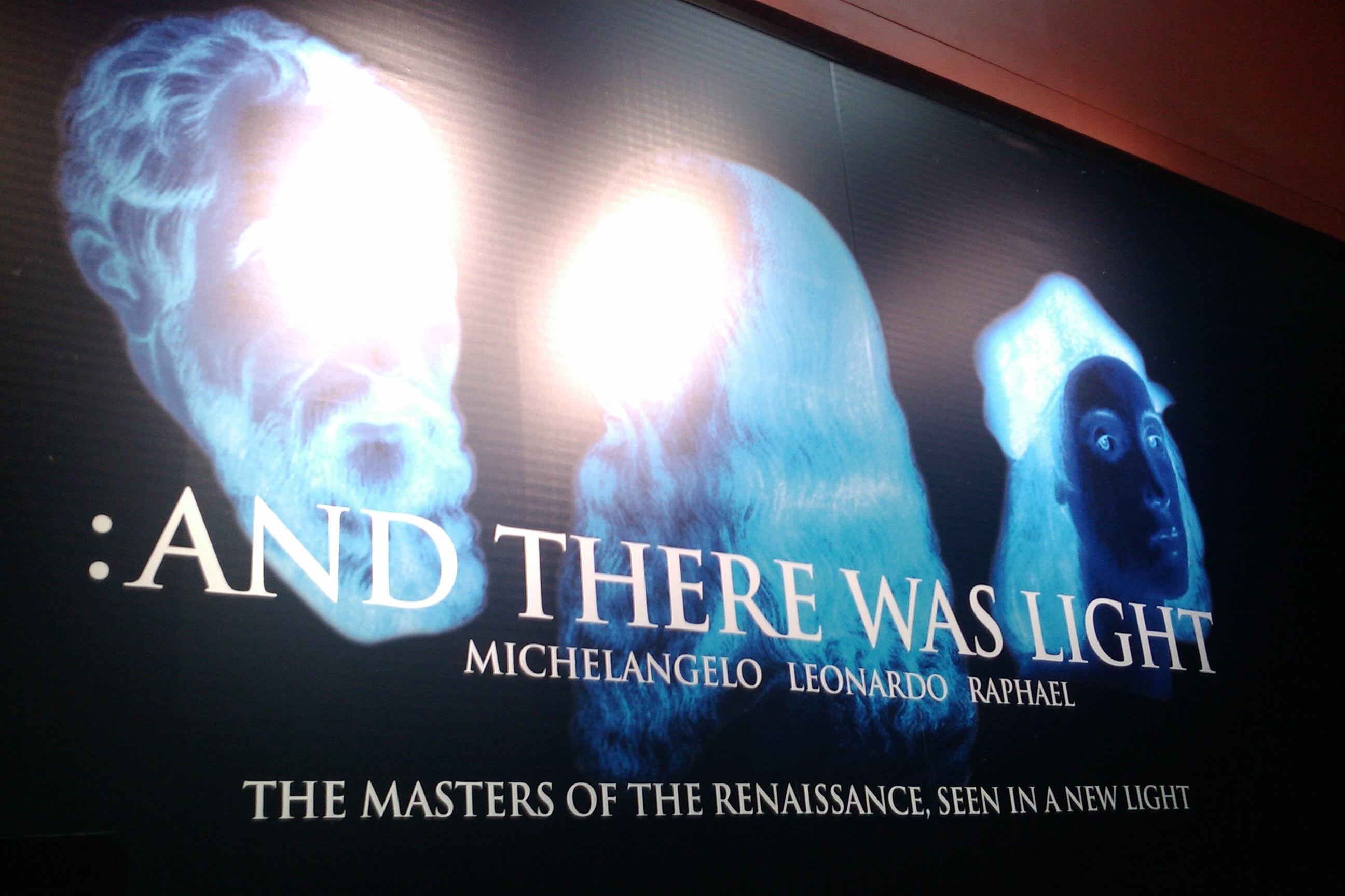 :and there was light - michelangelo - leonardo - raphael