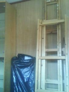 stuevegg med trepanel