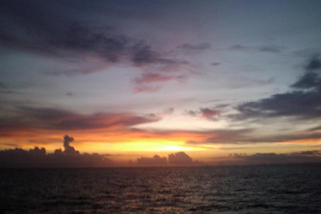 Solnedgang over Ao Nang