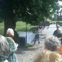 Vanndring i Gamlebyen 2012.08.01 -- Stoppested 4 Vollgraven