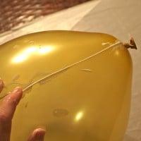 06 slik starter du liming av tråden på ballongen