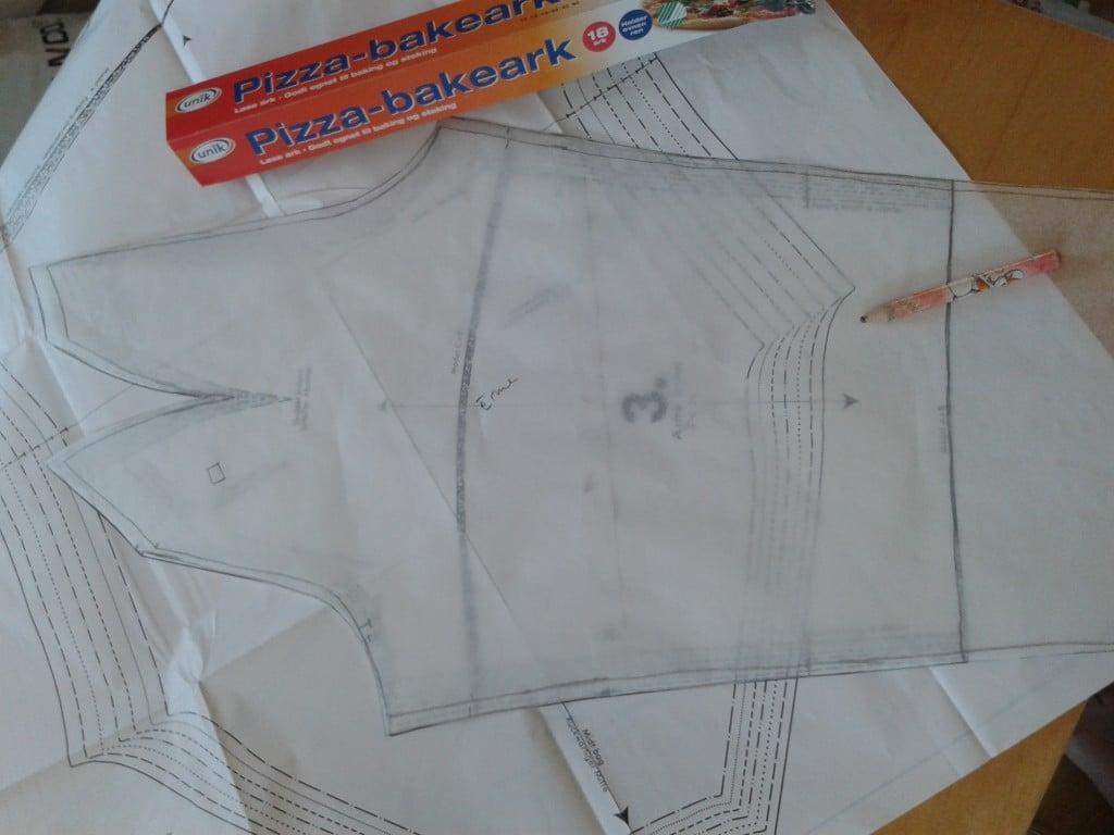 20130320 Mønster, bakepapir til kopiering av riktig størrelse av mønsteret