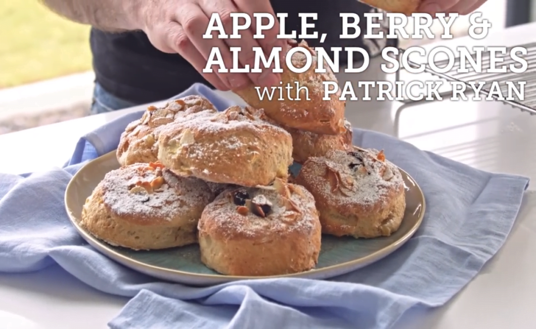 How to make scones with Patrick Ryan - Apple, berry & almond scones