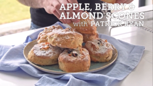 How to make scones with Patrick Ryan - Apple, berry & almond scones